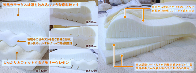 高さ調整が自分でできる安眠枕