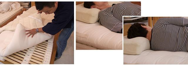 オーダーメイド枕の試し寝